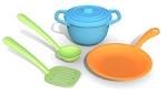 recycled play dishes & cookware