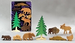 wooden wilderness animals